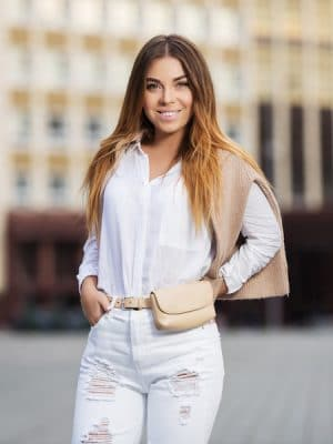 Outfit met witte blouse