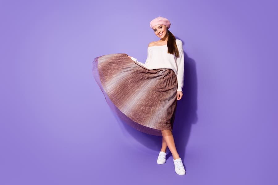 Meid in midi skirt musthave